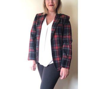 Pendleton Tartan Plaid Wool Blazer